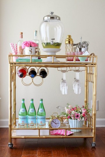 Affordable apartment coffee bar cart inspirations ideas 43