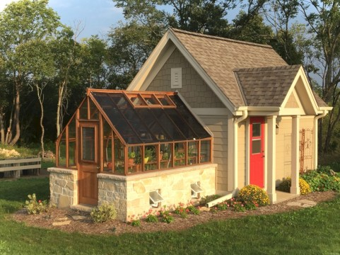 Awesome garden shed design ideas 28
