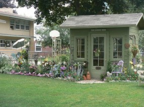 Awesome garden shed design ideas 35
