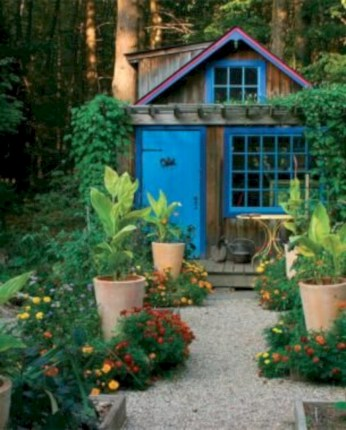 Awesome garden shed design ideas 36