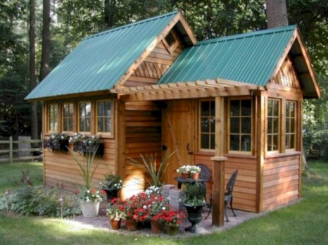 Awesome garden shed design ideas 43