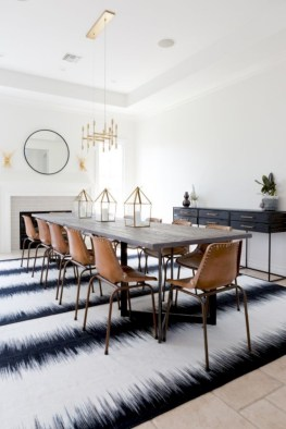 Awesome mid century modern dining room table decor ideas 06