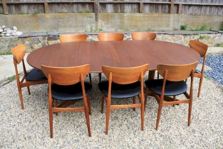 Awesome mid century modern dining room table decor ideas 12
