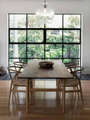 Awesome mid century modern dining room table decor ideas 15
