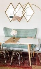 Awesome mid century modern dining room table decor ideas 26