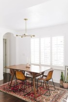 Awesome mid century modern dining room table decor ideas 38
