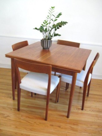 Awesome mid century modern dining room table decor ideas 42