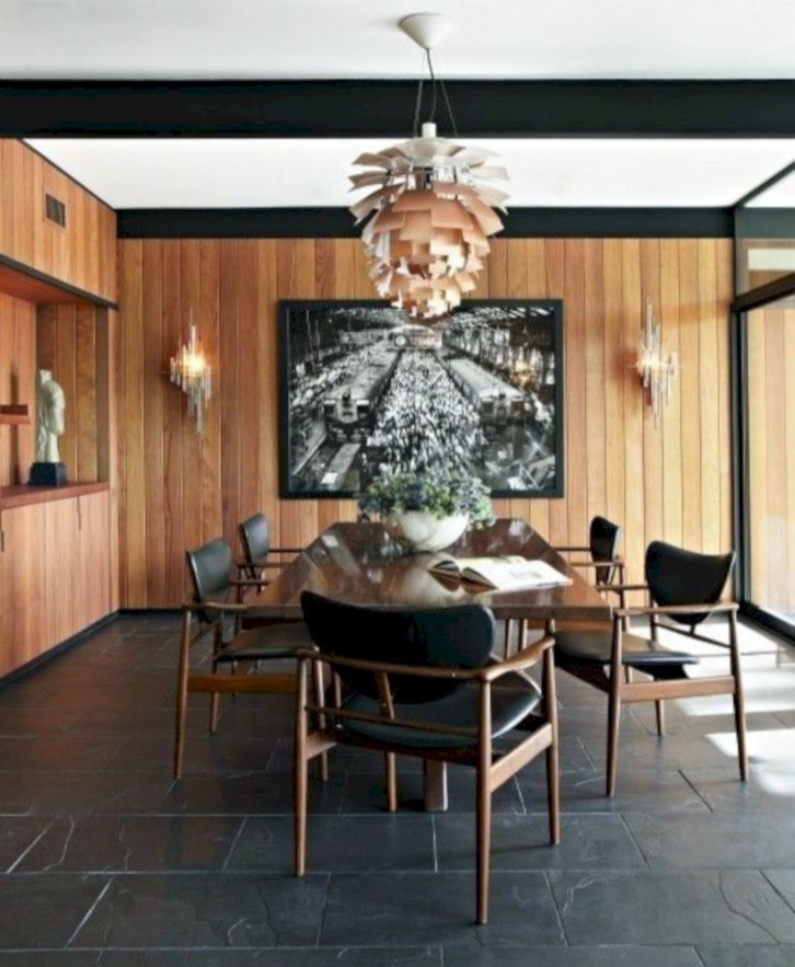 Awesome mid century modern dining room table decor ideas 48
