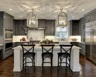 Beautiful gray kitchen cabinet design ideas 05