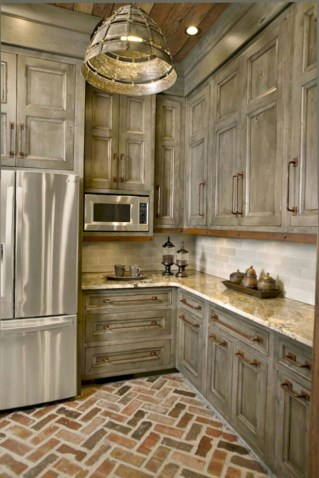 Beautiful gray kitchen cabinet design ideas 07