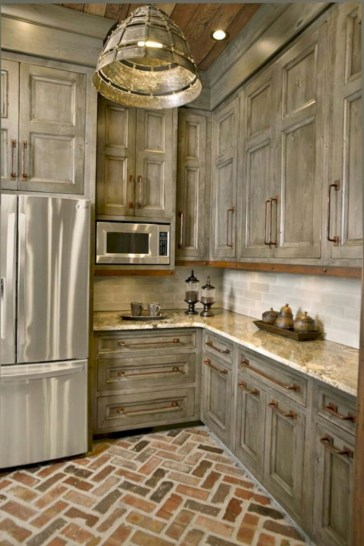Beautiful gray kitchen cabinet design ideas 07