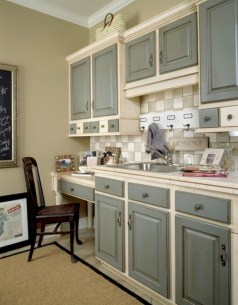 Beautiful gray kitchen cabinet design ideas 20