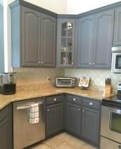 Beautiful gray kitchen cabinet design ideas 24