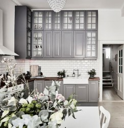 Beautiful gray kitchen cabinet design ideas 32