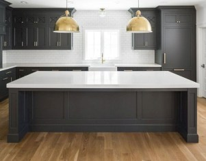 Beautiful gray kitchen cabinet design ideas 37