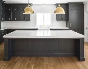 Beautiful gray kitchen cabinet design ideas 37