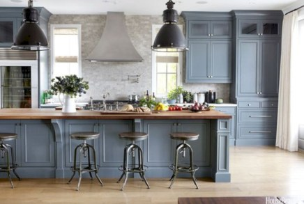 Beautiful gray kitchen cabinet design ideas 39