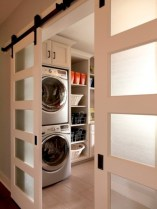 Brilliant small laundry room storage organization ideas on a budget 02