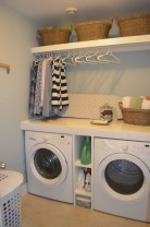 Brilliant small laundry room storage organization ideas on a budget 04