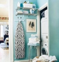 Brilliant small laundry room storage organization ideas on a budget 14