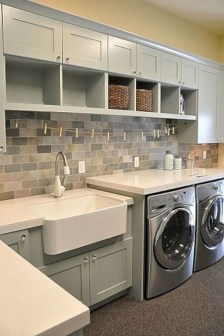 Brilliant small laundry room storage organization ideas on a budget 19