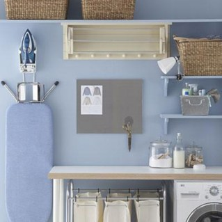 Brilliant small laundry room storage organization ideas on a budget 21