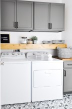 Brilliant small laundry room storage organization ideas on a budget 30