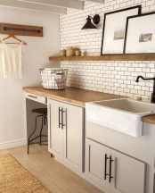 Brilliant small laundry room storage organization ideas on a budget 32