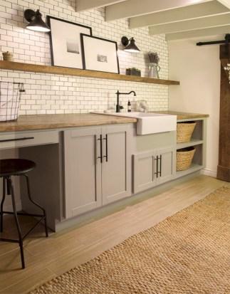 Brilliant small laundry room storage organization ideas on a budget 37