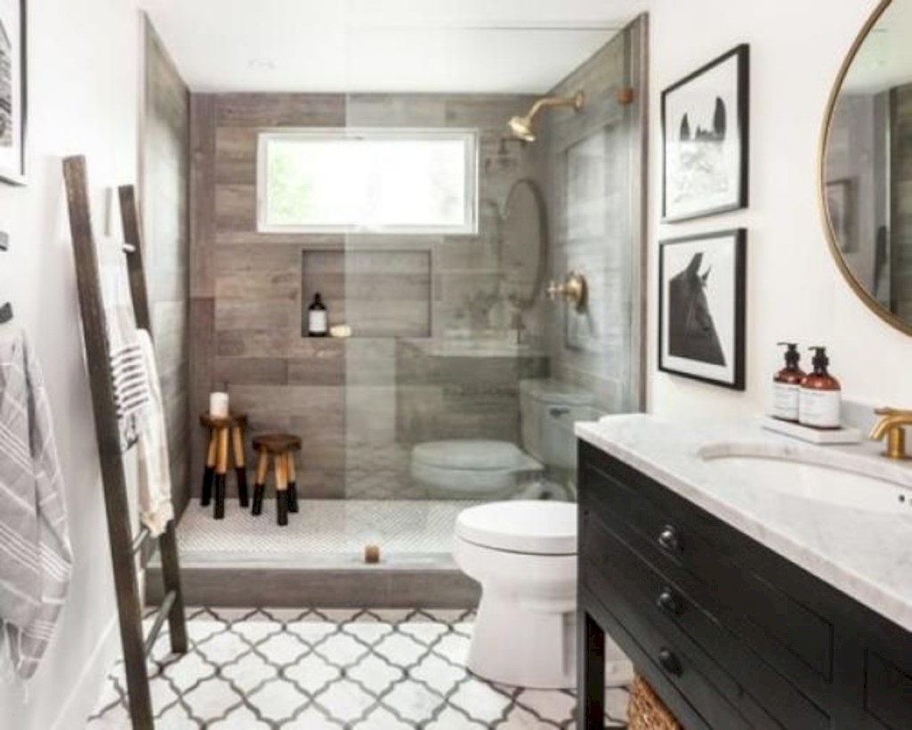 Captivating small farmhouse bathrooms decoration ideas (7)