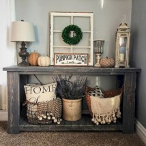 Catchy farmhouse rustic entryway decor ideas 03