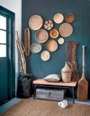 Catchy farmhouse rustic entryway decor ideas 06