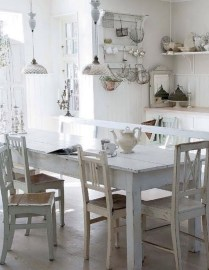 Classic shabby chic vintage kitchens design decor (14)