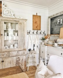 Classic shabby chic vintage kitchens design decor (15)