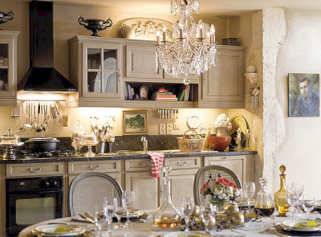 Classic shabby chic vintage kitchens design decor (18)