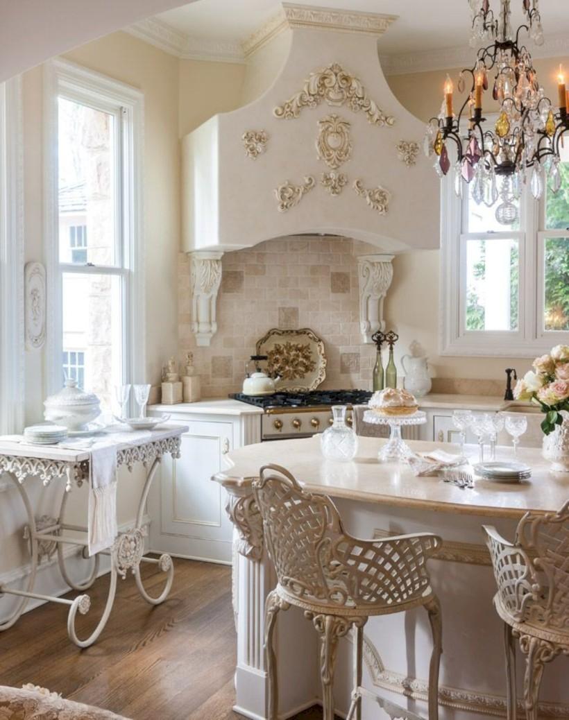 Classic shabby chic vintage kitchens design decor (23)