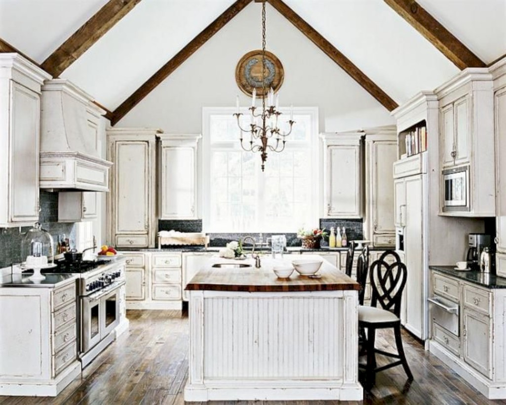 Classic shabby chic vintage kitchens design decor (24)