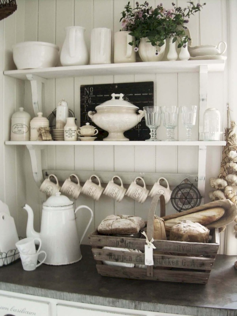 Classic shabby chic vintage kitchens design decor (26)