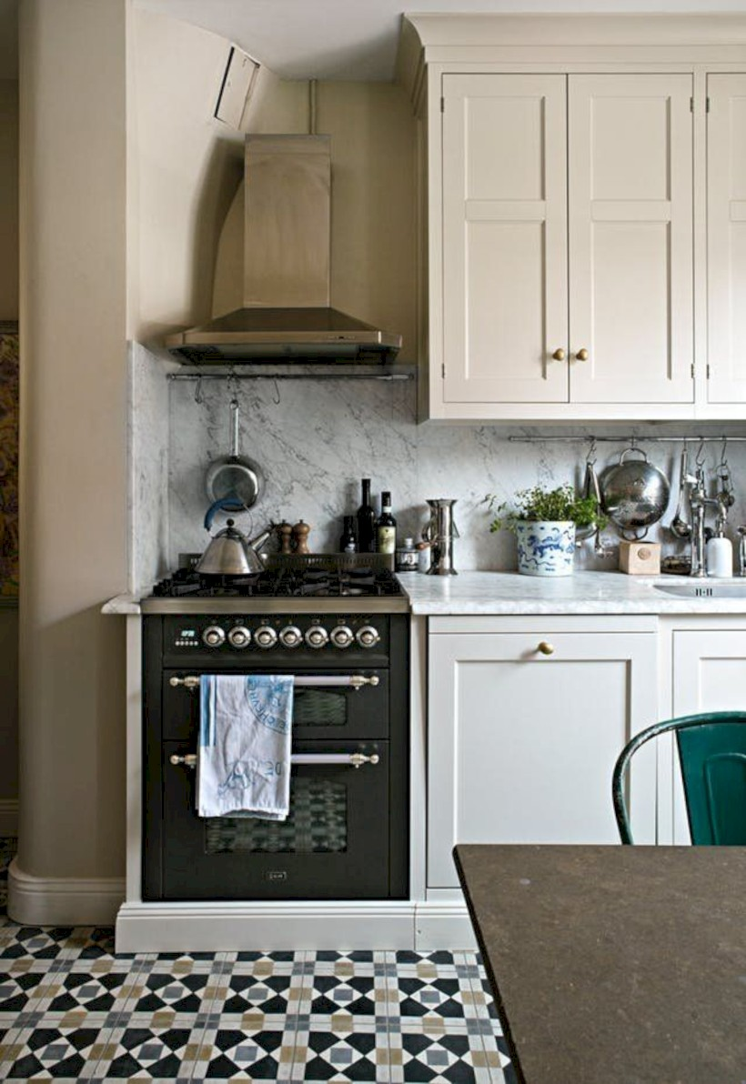 Classic shabby chic vintage kitchens design decor (3)