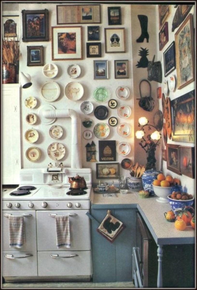 Classic shabby chic vintage kitchens design decor (35)