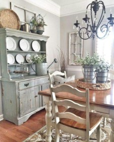 Classic shabby chic vintage kitchens design decor (42)