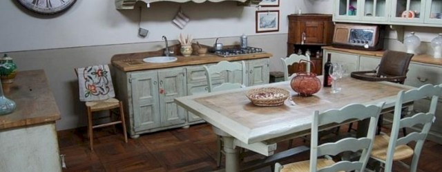 Classic shabby chic vintage kitchens design decor (43)