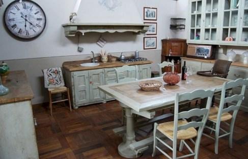 Classic shabby chic vintage kitchens design decor (43)