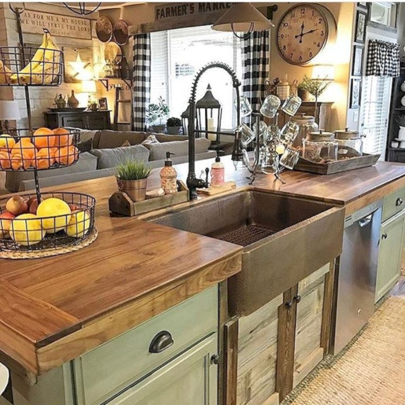 Classic shabby chic vintage kitchens design decor (45)