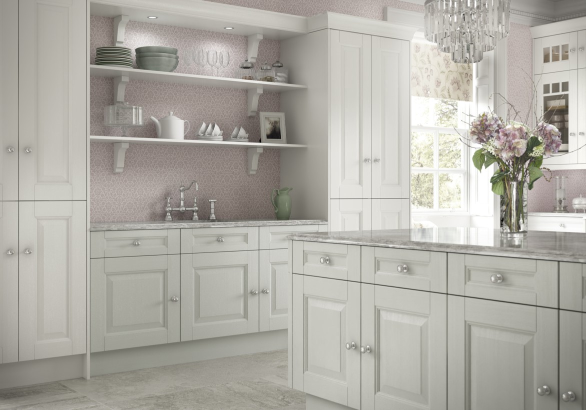 Classic shabby chic vintage kitchens design decor (5)