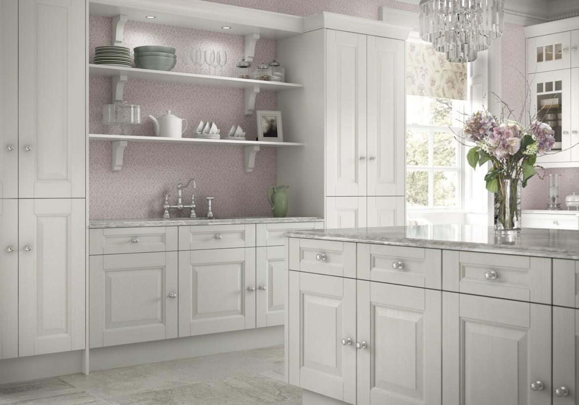 Classic shabby chic vintage kitchens design decor (5)
