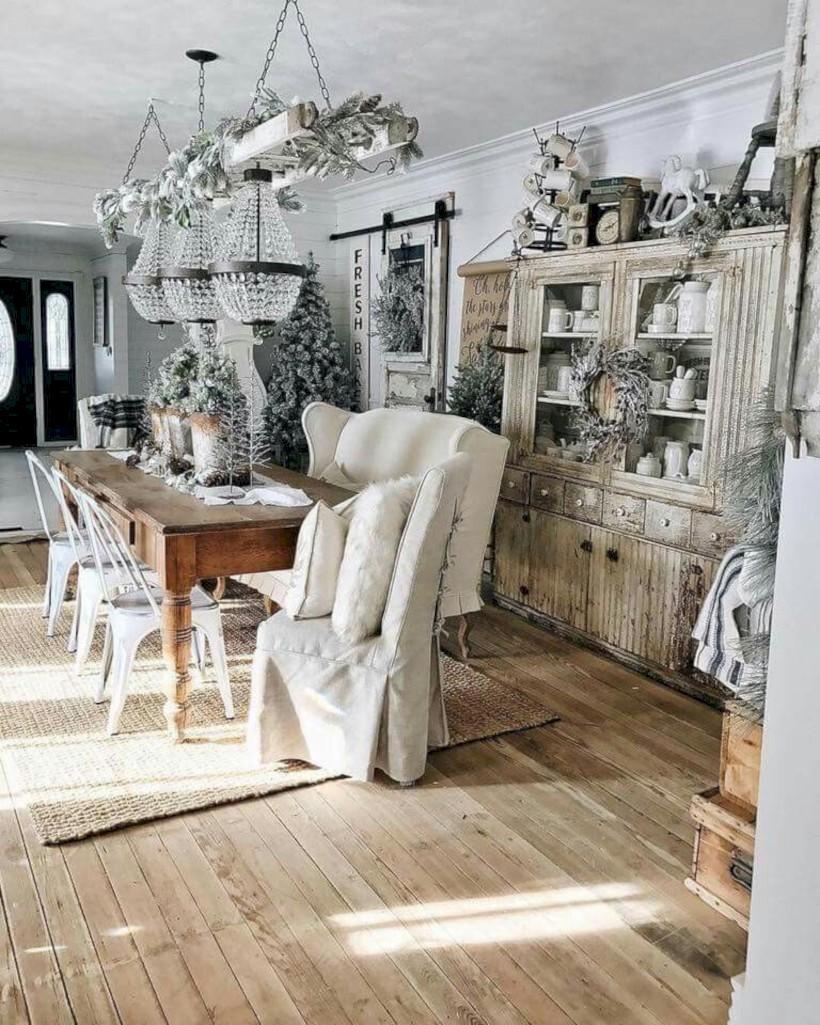 Classic shabby chic vintage kitchens design decor (6)