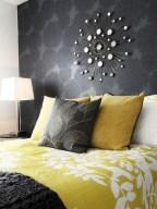 Comfy grey yellow bedrooms decorating ideas (15)
