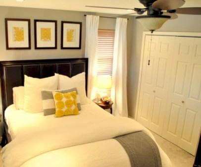 Comfy grey yellow bedrooms decorating ideas (2)