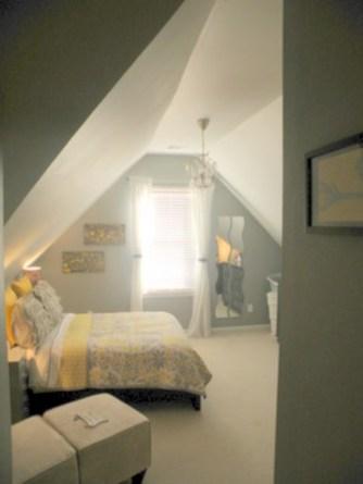 Comfy grey yellow bedrooms decorating ideas (34)